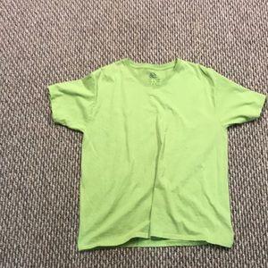 Plain green tee